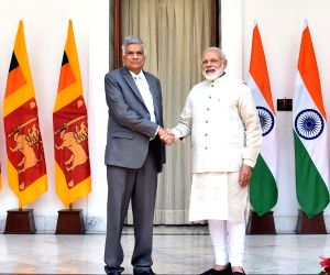 PM Modi, Sri Lankan PM Wickremsinghe at Hyderabad House