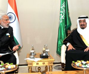 PM Modi meets King Salman bin Abdul Aziz of Saudi Arabia