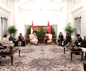 PM Modi meets Singapore President Halimah Yacob