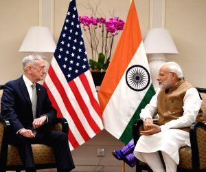 Modi meets the US Defense Secretary James Mattis