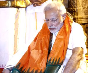 Modi offers prayers at Tirumala temple