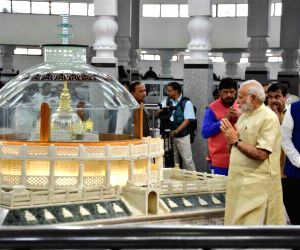 Modi pays homage to Ambedkar on his 126th birth anniversary (Lead)