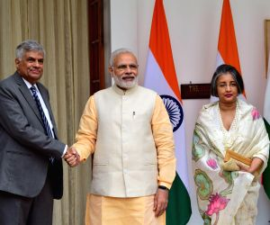 Modi meets Sri Lankan counterpart