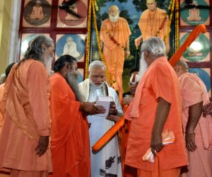 PM Modi unveils statue of Mahant Avaidyanath in Gorakhnath temple