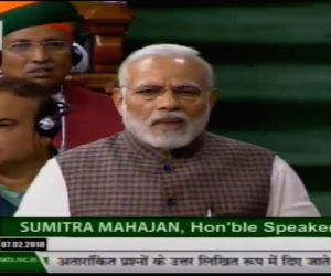 Narendra Modi speaking in Lok Sabha