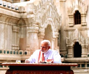 PM Modi visits Ananda Temple