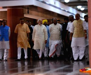 PM Modi arrives for an all-party meeting ahead of parliament's monsoon session
