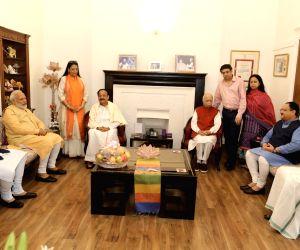 PM Modi, Venkaiah Naidu, Amit Shah meet LK Advani on his 92nd birthday