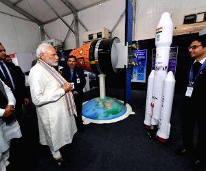 """Vibrant Gujarat Global Trade Show"""" - PM Modi visits ISRO's pavilion"""