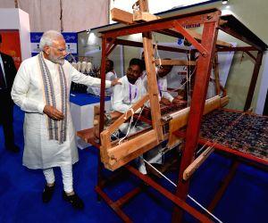 """Vibrant Gujarat Global Trade Show"""" - PM Modi visits Khadi's pavilion"""