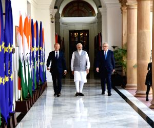 Narendra Modi meeting European Council President
