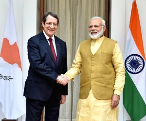 PM Modi, Cyprus President Anastasiades at Hyderabad House