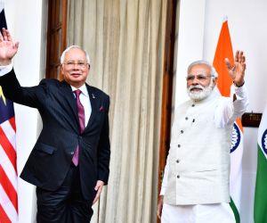 PM Modi, Malaysian PM Najib Razak at Hyderabad House