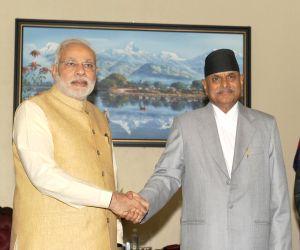 Kathmandu (Nepal): PM Modi meets Nepal President