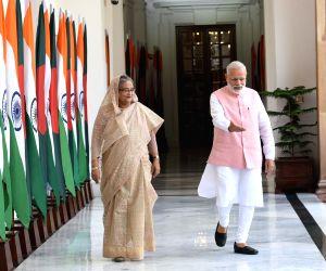Modi, Hasina meet at Hyderabad House