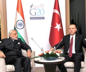 G20 Summit 2015 - sidelines - PM Modi, Turkey President