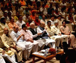 Prime Minister Narendra Modi with Union Ministers Ravi Shankar Prasad, Thawar Chand Gehlot, Rajnath Singh, JP Nadda, Amit Shah, Dharmendra Pradhan, Subrahmanyam Jaishankar and Nirmala ...