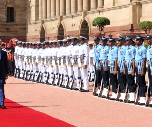 Ceremonial reception for Mauritian PM
