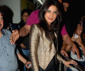 Priyanka Chopra at Don 2 special screening at PVR.