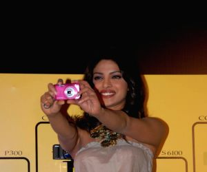 Priyanka  launches new Nikon Coolpix Cameras