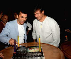 "Producer Anand Pandit and actor Vivek Oberoi at the success party of their recently released film ""PM Narendra Modi"", in Mumbai, on June 13, 2019."