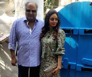 Boney Kapoor and Sridevi during a programme