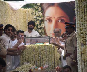 Producer Boney Kapoor and actors Anil Kapoor, Arjun Kapoor, Sanjay Kapoor and Mohit Marwah accompany the body of late actress Sridevi to the Vile Parle Seva Samaj Crematorium and Hindu ...