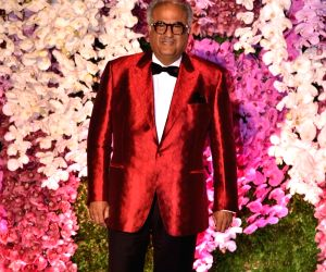 Producer Boney Kapoor at the wedding reception of Akash Ambani and Shloka Mehta in Mumbai on March 10, 2019.