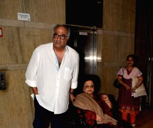 "Special screening of film ""Dhadak"" - Boney Kapoor and Nirmal Kapoor"