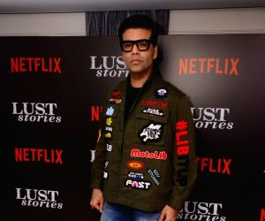 "Producer Karan Johar at the special screening of Netflix show titled ""Lust Stories"" in Mumbai on June 13, 2018."