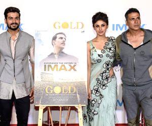 "IMAX trailer and poster launch of film ""Gold"" - Ritesh Sidhwani, Akshay Kumar, Mouni Roy, Vineet Kumar Singh and Sunny Kaushal"