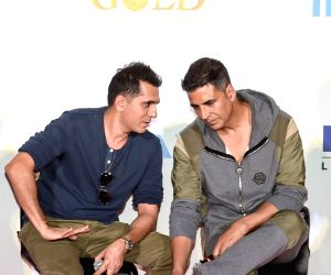 "IMAX trailer and poster launch of film ""Gold"" - Ritesh Sidhwani and Akshay Kumar"