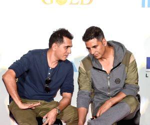 "IMAX trailer and poster launch of film ""Gold"" - Ritesh Sidhwani and Akshay Kumar"