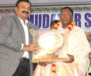 V. Narayanasamy at a scholarship distribution programme