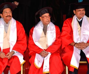 President Mukherjee during the 11th Convocation of SIU