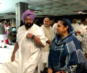 Amarinder Singh, Asha Kumari arrive to attend CWC meeting