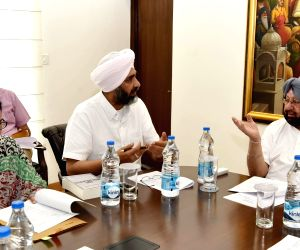 Punjab CM during a meeting