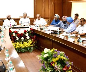 Punjab CM meets officials