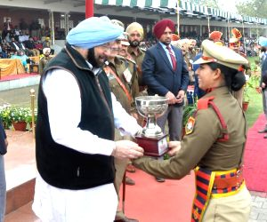 Punjab Chief Minister Captain Amarinder Singh during a Passing out Parade at Punjab Police Academy in Phillaur, Jalandhar on Feb 28, 2018.