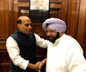 Punjab CM calls on Rajnath Singh