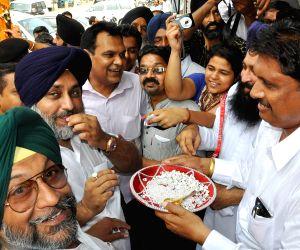 Sukhbir Singh Badal during a rally