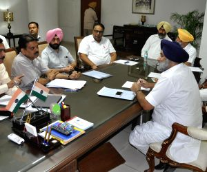 Punjab Dy CM during a meeting with Punjab ministers