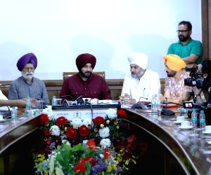 Navjot Singh Sidhu during a meeting