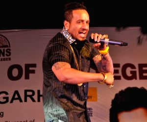 Jazzy B during a concert at a college in Chandigarh