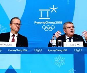 OLY SOUTH KOREA PYEONGCHANG IOC PRESIDENT PRESS CONFERENCE