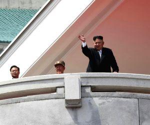 DPRK-PYONGYANG-MILITARY PARADE-JIM JONG UN