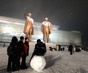 Pyongyang (DPRK): First snowfall