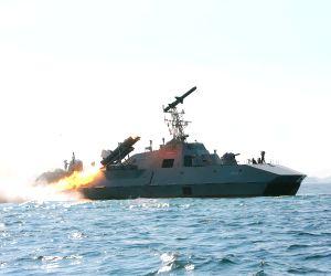 DPRK-KIM JONG UN-ANTI-SHIP ROCKET-TEST FIRE