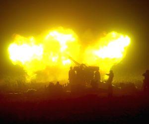 DPRK-KIM JONG UN-KPA-NIGHT NAVAL FIRE STRIKE DRILL