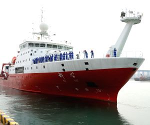CHINA-QINGDAO-RESEARCH VESSEL-THE KEXUE